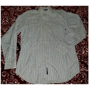 Ermenegildo Zegna Striped Button-Down Shirt SZ MED